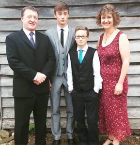 Tracey-Jane Hughes and family