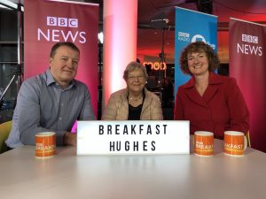 Tracey-Jane Hughes and family on Breakfast TV taking opportunities