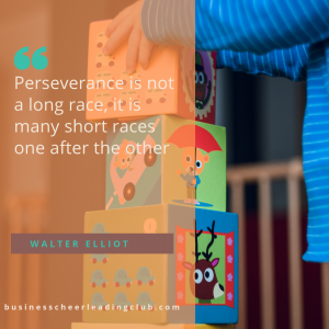 perseverance is doing one thing at a time
