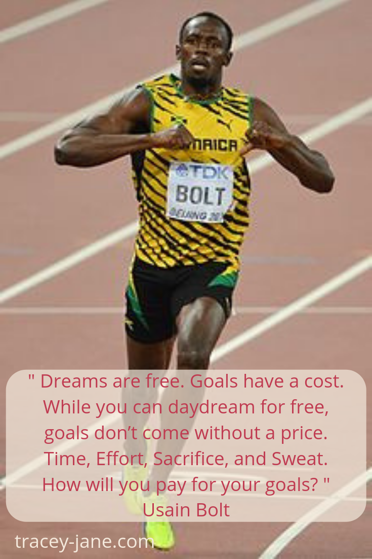 dreams are free usain bolt