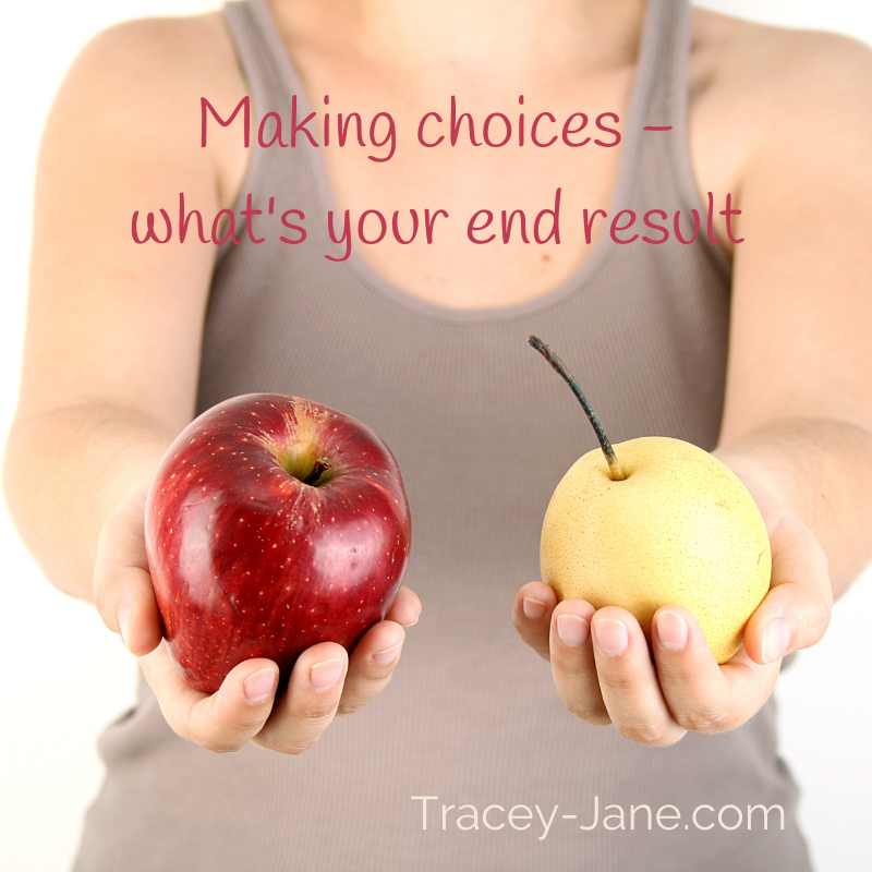Making choices what is your end result